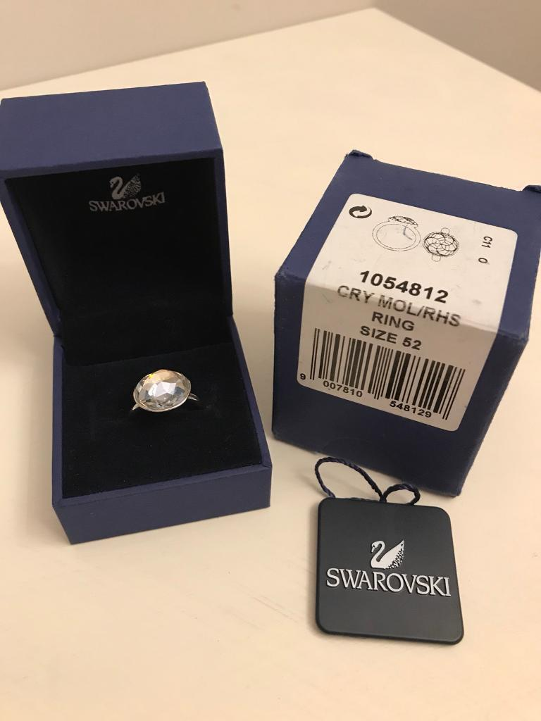 Swarovski Crystal Ring - New in box size 52