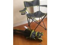 Two camping chairs from decathlon not used