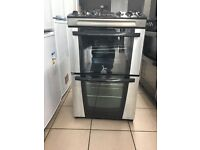 Zanussi electric cooker 55cm stainless steel ceramic double oven 3 months warranty !!!!!!!