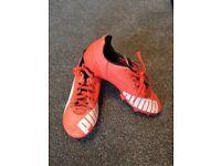 Boys size 13 Puma football boots