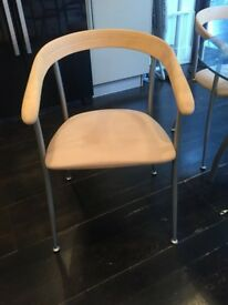 4 modern and stylish kitchen/dining chairs - neutral colour - fantastic condition