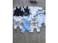 Newborn baby boy clothes mainly from Next and Mothetcare
