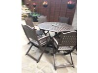 Wooden Garden Furniture with 8 chairs
