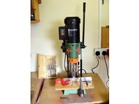 FERM FBM-370 Bench Mortiser 450w. Mortising capacity 13mm. Comes with 5 mortice chisels.