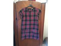 Funky tartan dress by next age 12