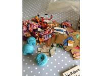 Bundle of embroidery cottons/silks & box of sequins beads free to good home