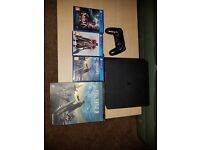 Ps4 slim 500Gb, 3 games and game guide book, with box and pick up only.
