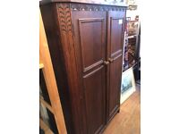 Vintage wooden cupboard , great for storage . Shelves could be fitted .