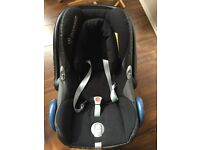 Cabriofix Car seat with Isofix Maxi Cosi with cover protection