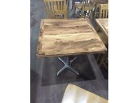 Square Wood Effect Laminated Dining Table