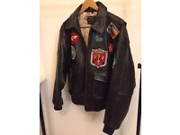 "Rare Avirex Type G-1 ""Top Gun"" genuine leather jacket (size L)"