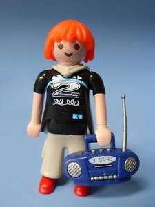 Playmobil Teenager Girl Female Figure & Radio Ghetto Blaster 5204 Series 1 RARE