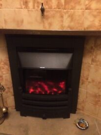 Wonderfire electric fire with Bauhause facia, 2 heat settings, remote control and user manual