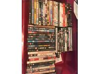 Approximately 100 DVD's, various types, comedy, horror, GAMES, soaps, thrillers etc..
