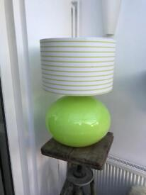 Green large glass Ikea lamp
