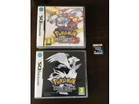 Pokemon games x3 for Nintendo DS.