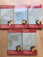 5 verschiedene historische Haack Handkarten aus DDR Hessen - Eschborn Vorschau