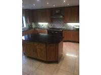 Bespoke Solid Oak Large Fitted Kitchen Wall & Base Units, Miele Dishwasher, Smeg, NO WORKTOPS