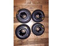 Douglas SE full mag Karting Rims with used Mojo minimax slicks (Stored Inside)
