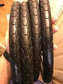 """Brompton 4 X 16"""" Kevlar Tyres + Tubes"""