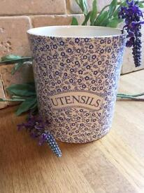 NEW - Burleigh Pottery Utensil Pot