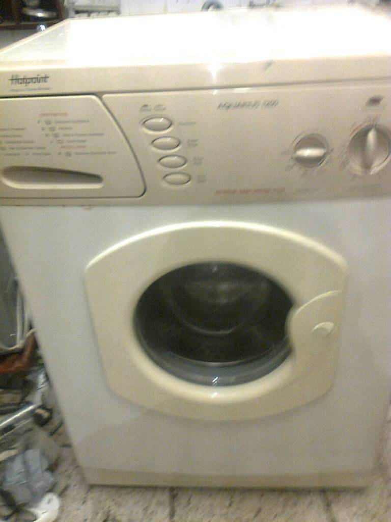 Washing machine, almond Hotpoint