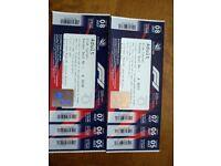 2018 British F1 Grand Prix 2x weekend club corner grandstand tickets