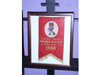 Collectors item ; Watney mann world cup special pale ale 1966 banner in frame