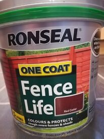 Ronseal One Coat Fence Life Exterior Wood Paint 5L UNUSED