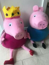 Giant official Peppa and George