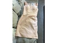 Satin pink mother of the bride dress