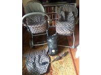 Mamas and Papas Ultima Pram and Pushchair with extras ***Reduced Price for quick sale** £50 for lot*