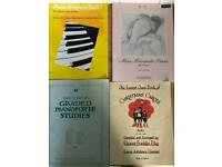 4 vintage piano music soft back books