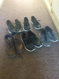 5 pairs of boys shoes size 1