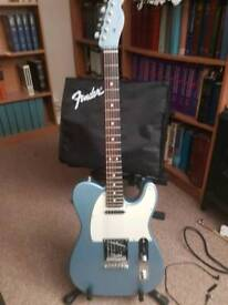 2016 Fender limited edition american standard telecaster with matching Heastock