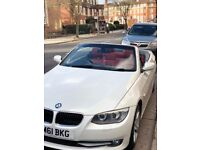 BMW 320D CONVERTIBLE MINERAL WHITE 1 OWNER FULL SERVICE HISTORY