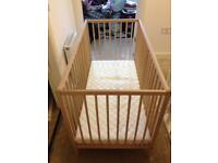 Cot for sale £40 Ono with new mattress