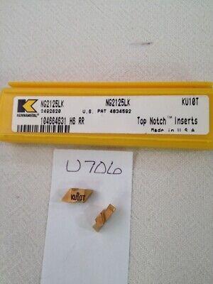 5 New Kennametal Ng 2125lk Top Notch Grooving Carbide Inserts Gr Ku10t Usa -u706