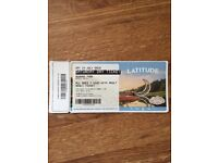 SOLD....1 x Saturday Latitude ticket...killers headlining