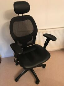 Mesh/Leather Operator's Chair