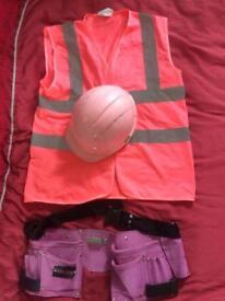 Ladies pink builder fancy dress/Hen outfit