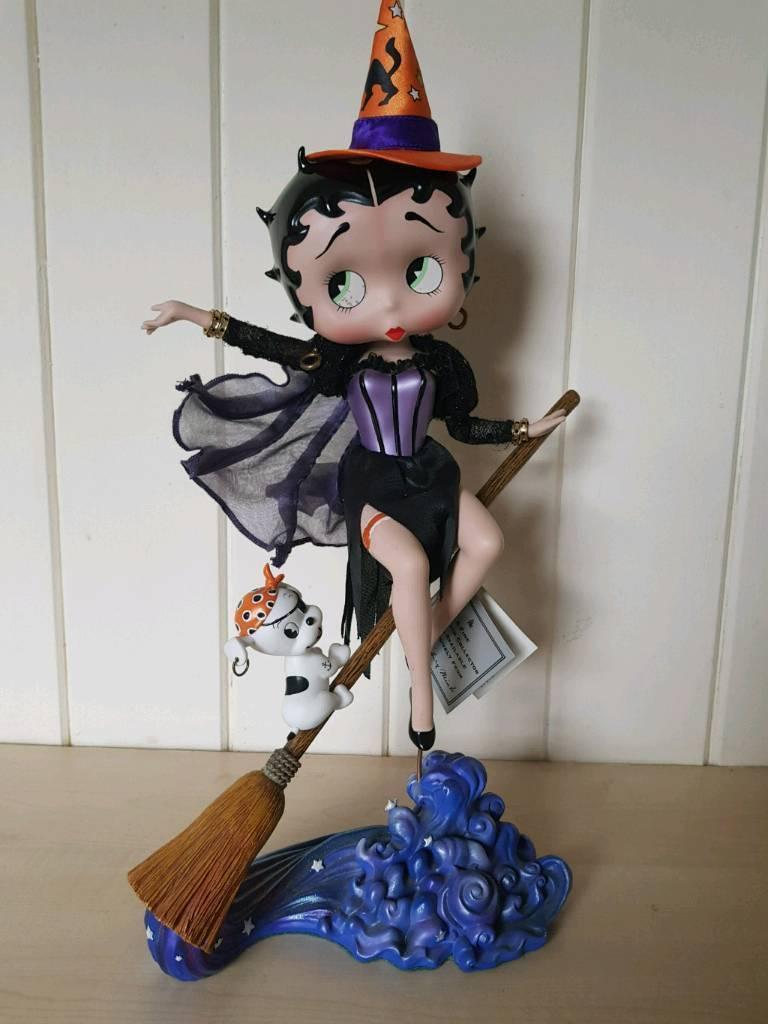 betty boop halloween witch figurine. | in cleckheaton, west