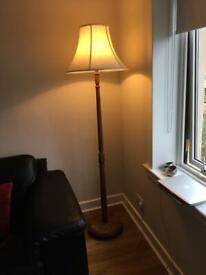 Vintage solid oak standard lamp
