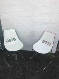 Vintage Callagaris 60s style jam chairs
