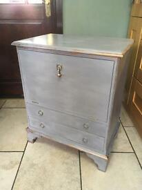 Vintage restyled 2 drawer petit bureau