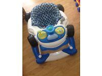 Boys racing car baby walker