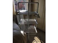 3 tier heated clothes airer folds flat