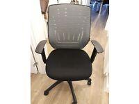Staples black fabric operator chair