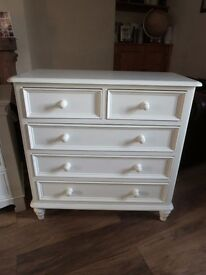 Scartop Chest of Drawers (Ivory White) - LANCS