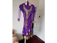 Purple wedding dress /dress / Asian dress / Party dress / Eid dress